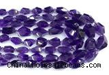 CNA1255 15 inches 6*11mm - 12*18mm faceted nuggets amethyst beads