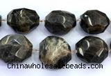 CNG8982 15 inches 30*35mm - 40*50mm faceted nuggets sunstone beads