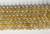 CNG9054 15.5 inches 8mm faceted nuggets citrine gemstone beads