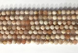 CNG9080 15.5 inches 6mm faceted nuggets moonstone gemstone beads