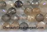 CNG9103 15 inches 4mm faceted nuggets sunstone beads