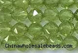 CNG9106 15 inches 4mm faceted nuggets olive quartz beads