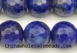 CNL1737 15 inches 10mm faceted round lapis lazuli beads