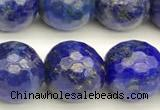 CNL1738 15 inches 12mm faceted round lapis lazuli beads