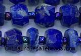CNL1740 15 inches 5*7mm-6*8mm faceted nuggets lapis lazuli beads