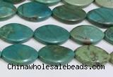 CNT508 15.5 inches  11*18mm - 12*20mm oval turquoise gemstone beads