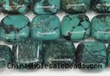 CNT511 15.5 inches 10mm square turquoise gemstone beads