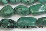 CNT521 15.5 inches 8*10mm - 10*13mm nuggets turquoise gemstone beads