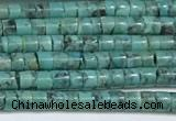 CNT527 15.5 inches 3mm - 3.5mm heishi turquoise gemstone beads