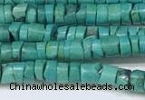CNT530 15.5 inches 4mm - 4.5mm heishi turquoise gemstone beads
