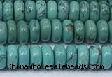 CNT543 15.5 inches 3*6mm rondelle turquoise gemstone beads