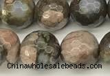 COP1811 15 inches 8mm faceted round grey opal beads