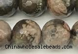 COP1812 15 inches 10mm faceted round grey opal beads