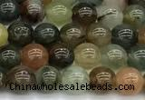 CPC690 15 inches 6mm round phantom quartz beads