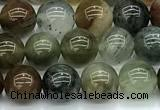 CPC691 15 inches 8mm round phantom quartz beads
