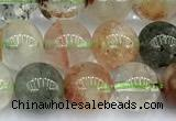 CPC696 15 inches 8mm - 9mm round phantom quartz beads