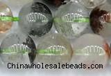 CPC697 15 inches 9mm - 10mm round phantom quartz beads