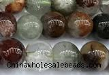 CPC700 15 inches 6mm -7mm round phantom quartz beads