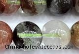 CPC702 15 inches 9mm - 10mm round phantom quartz beads