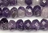 CRB5823 15 inches 4*6mm, 5*8mm faceted rondelle dogtooth amethyst beads