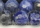 CSO912 15 inches 10mm faceted round sodalite beads wholesale