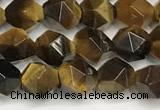 CTE2250 15 inches 6mm faceted nuggets yellow tiger eye beads