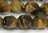 CTE2251 15 inches 8mm faceted nuggets yellow tiger eye beads