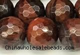 CTE2323 15 inches 12mm faceted round red tiger eye beads