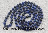 GMN503 Hand-knotted 8mm, 10mm blue tiger eye 108 beads mala necklaces
